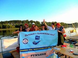 Gäste auf dme Floß bei Riahovo