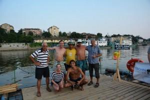 Част от международния екип на Дунавски сал 2013