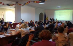 """Гласуване на текста на декларацията за подкрепа на инициативата """"Danube Crossing Points"""", 3.07.2015 , Гюргево"""